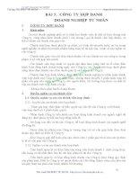 BÀI GIẢNG LUẬT DOANH NGHIỆP - BÀI 5: CÔNG TY HỢP DANH DOANH NGHIỆP TƯ NHÂN potx