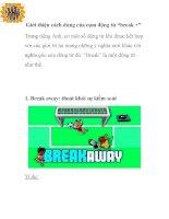 """Giới thiệu cách dùng của cụm động từ """"break +"""" docx"""