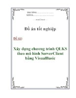 Đồ án tốt nghiệp: Xây dựng chương trình QLKS theo mô hình ServerClient bằng VisualBasic ppt