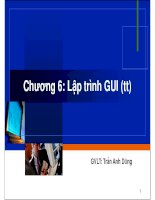 Chương 6: Lập trình GUI (tt) ppsx
