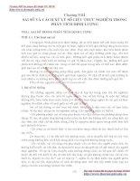 GIÁO TRÌNH PHÂN TÍCH MÔI TRƯỜNG - PHẦN 1 CƠ SỞ LÝ THUYẾT HOÁ HỌC PHÂN TÍCH (phân tích định lượng) - CHƯƠNG 8 pdf