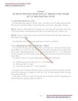 GIÁO TRÌNH HÓA LÝ LỸ THUẬT MÔI TRƯỜNG - Chương 7 ÁP DỤNG PHƯƠNG PHÁP HÓA LÝ TRONG CÔNG NGHỆ XỬ LÝ MÔI TRƯỜNG NƯỚC pot