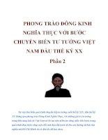 PHONG TRÀO ĐÔNG KINH NGHĨA THỤC VỚI BƯỚC CHUYỂN BIẾN TƯ TƯỞNG VIỆT NAM ĐẦU THẾ KỈ XX phần 2 pot