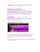 Giáo trình tin học : Opera blog - biểu tượng của sự đơn giản & hiệu quả pdf