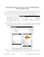 Kỹ thuật chỉnh sửa movie chuyên nghiệp bằng Macromedia Flash phần 1 ppt