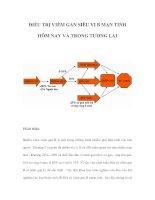ĐIỀU TRỊ VIÊM GAN SIÊU VI B MẠN TÍNH HÔM NAY VÀ TRONG TƯƠNG LAI pdf