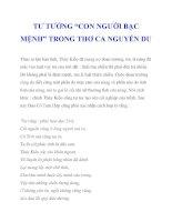 """TƯ TƯỞNG """"CON NGƯỜI BẠC MỆNH"""" TRONG THƠ CA NGUYỄN DU_2 pptx"""