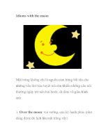 Idioms with the moon pot