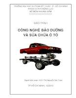 Giáo trình công nghệ bảo dưỡng và sửa chữa ô tô - Chương 1 doc
