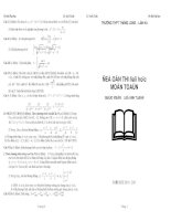 55 đề thi đại học môn toán có lời giải pptx
