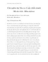 Cách mạng và phản cách mạng ở Đức - Chủ nghĩa đại Xla-vơ. Cuộc chiến tranh Slê-dơ-vích - Hôn-stai-nơ doc