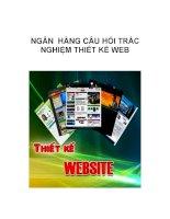 NGÂN HÀNG CÂU HỎI TRẮC NGHIỆM THIẾT KẾ WEB_1 pot