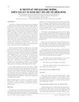 BÁO CÁO NGHIÊN CỨU KHOA HỌC KỸ THUẬT: DI TRUYỀN VỀ THỜI GIAN SINH TRƯỞNG, CHIỀU CAO CÂY VÀ NĂNG SUẤT CỦA MỘT SỐ GIỐNG BÔNG potx