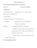 Giáo án tiếng anh lớp 10: UNIT 8: THE STORY OF MY VILLAGE pdf