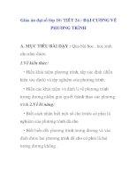 Giáo án đại số lớp 10: ĐẠI CƯƠNG VỀ PHƯƠNG TRÌNH ppsx