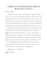 1 SỐ BÀI TẬP CƠ BẢN CẦN THIẾT CHƯƠNG NHIỆT HỌC - LÍ LỚP 12 phần 1 docx