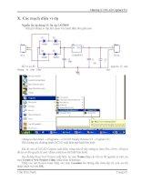 Giáo trình : Thiết kế mạch in với MultiSim 6.20 và OrCAD 9.2 part 7 pps