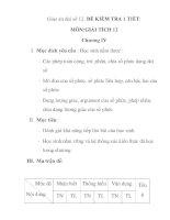 Giáo án đại số 12: ĐỀ KIỂM TRA 1 TIẾT: MÔN:GIẢI TÍCH 12 Chương IV docx