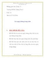 Giáo án mầm non chương trình đổi mới: Các ngày tháng trong năm pdf