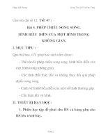 Giáo án đại số 12: PHÉP CHIẾU SONG SONG. HÌNH BIỂU DIỄN CỦA MỘT HÌNH TRONG KHÔNG GIAN. pdf