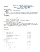 KIỂM TRA 1 TIẾT GIẢI TÍCH 12 NÂNG CAO Môn:Giải tích (Thời gian 45 phút) Chương 1 : ỨNG DỤNG CỦA ĐẠO HÀM ĐỂ KHẢO SÁT VÀ VẼ HÀM SỐ ppt