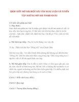 CÁCH VIẾT MỞ BÀI MỘT BÀI VĂN NGHỊ LUẬN VÀ TUYỂN TẬP NHỮNG MỞ BÀI THAM KHẢO phần 1 ppsx
