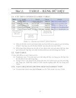 GIÁO TRÌNH LẬP TRÌNH QUẢN LÝ VỚI MICROSOFT OFFIC ACCESS - BÀI 2 TABLE – BẢNG DỮ LIỆU doc