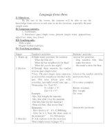 Giáo án tiếng anh lớp 7: language focus three doc