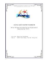 skkn sử dụng máy tính cầm tay để giải một số dạng toán bậc thcs