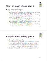 Bài giảng : Kỹ thuật điện thoại - Chuyển mạch kỹ thuật số part 2 pdf