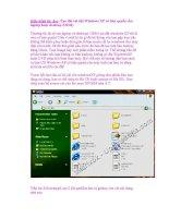 Giáo trình tin học :Tạo đĩa cài đặt Windows XP có bản quyền cho laptop hoặc desktop pps
