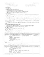Giáo án đại số 12 nâng cao: CỰC TRỊ CỦA HÀM SỐ potx