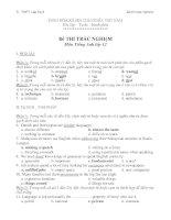 ĐỀ KIỂM TRA TRẮC NGHIỆM MÔN: Tiếng Anh - Khối:12 - Trường THPT Lấp Vò 3 pptx