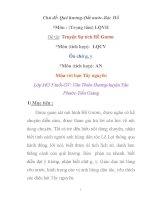 Giáo án mầm non chương trình đổi mới: Chủ đề: Quê hương-Đất nước-Bác Hồ - Đề tài: Truyện Sự tích Hồ Gươm pps