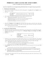 PHRASES AND CLAUSES OF CONCESSION (CỤM TỪ VÀ MỆNH ĐỀ CHỈ SỰ NHƯỢNG BỘ) ppt