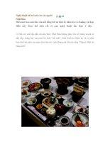 Nghệ thuật bài trí món ăn của người Nhật Bản pps
