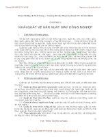 GIÁO TRÌNH CƠ SỞ SẢN XUẤT MAY CÔNG NGHIỆP - CHƯƠNG 2: KHÁI QUÁT VỀ SẢN XUẤT MAY CÔNG NGHIỆP ppsx