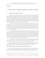 Quản lý dữ liệu trong nghiên cứu môi trường - Chương 2 pptx