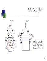 Giáo trình hình thành bản mẫu khối lượng trọng tải của vật nâng đối với các đặc tính cơ bản của máy nâng p3 pps
