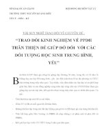 """CHUYÊN ĐỀ """"TRAO ĐỔI KINH NGHIỆM VỀ PHƯƠNG PHÁP DẠY HỌC THÂN THIỆN ĐỂ GIÚP ĐỞ ĐỐI VỚI CÁC ĐỐI TƯỢNG HỌC SINH TRUNG BÌNH, YẾU"""" pot"""