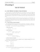 Giáo trình -Kỹ thuật số và mạch logic-chương 2 docx