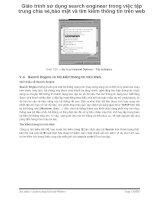 Giáo trình sử dụng search engineer trong việc tập trung chia sẻ bảo mật và tìm kiếm thông tin trên web p1 doc