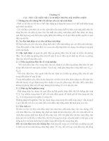 CÁC YÊU CẦU ĐỐI VỚI CÁCH ĐIỆN TRONG HỆ THỐNG ĐIỆN potx
