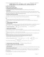 Công thức và bài tập luyện thi đại học môn Vật lý 12 - Chương 6 ppt