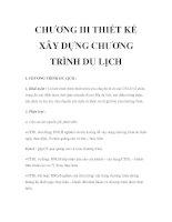 Giáo trình quản trị du lịch lữ hành - Chương 3 ppt