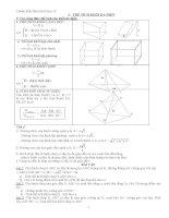 Chuẩn kiến thức hình học 12: Thể tích khối đa diện ppt