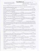 Đề thi thử đại học môn vật lý lần thứ 4 trường THPT chuyên KHTN ppt