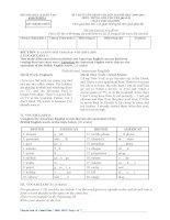 Đề thi tuyển sinh vào lớp 10 môn tiếng anh tỉnh Khánh Hòa năm 2010 - 2011 pptx