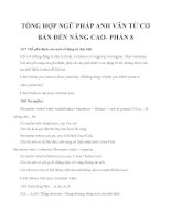 TỔNG HỢP NGỮ PHÁP ANH VĂN TỪ CƠ BẢN ĐẾN NÂNG CAO- PHẦN 8 pdf