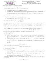 Đề thi thử toán - THPT Đặng Thúc Hứa ppsx